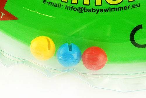 Baby Swimmer™ neckring features - three bells